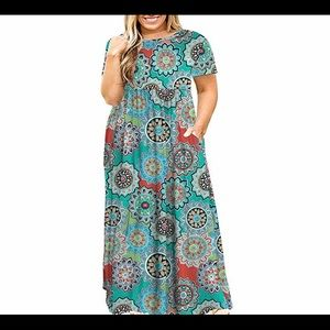 Dresses & Skirts - 🆕Plus Size Long Sleeve Maxi Dress with Pocket
